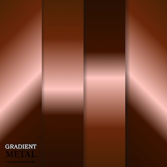 Gradient golden metal background