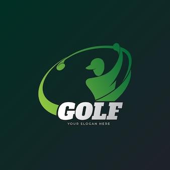 그라데이션 골프 로고 템플릿