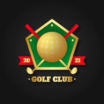Gradient golf logo template