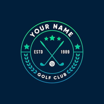 Gradient golf logo