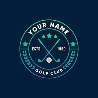 Градиентный гольф логотип
