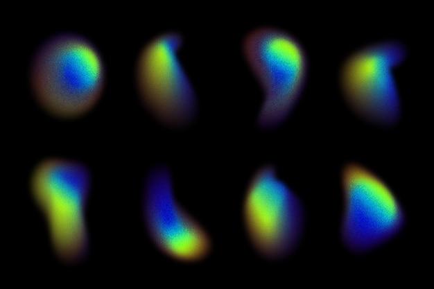 Коллекция градиентных зернистых градиентных форм
