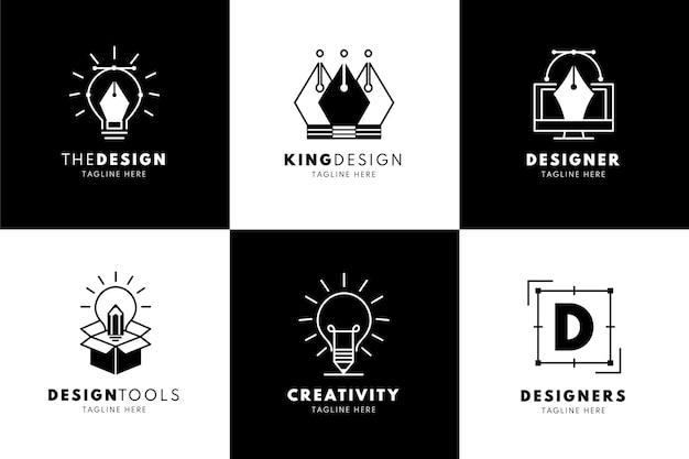 Шаблоны логотипов градиентных графических дизайнеров