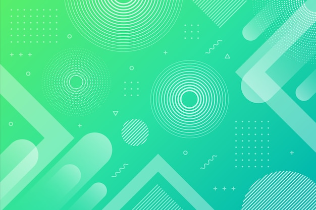 Gradient green blue abstract geometric background