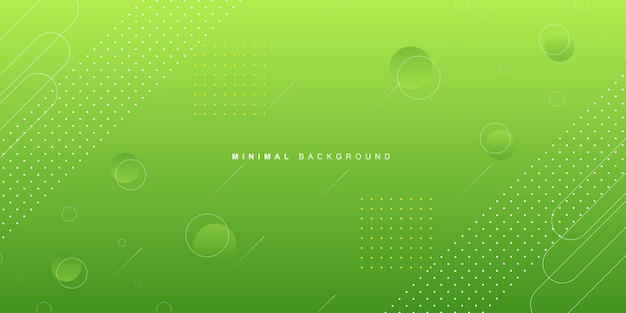 Gradient green geometric background