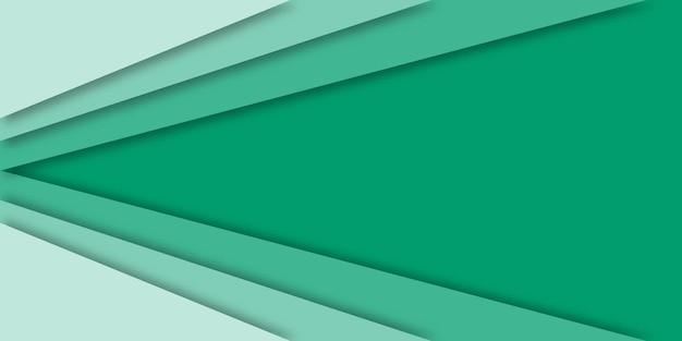 グラデーショングリーンペーパーカットの背景。