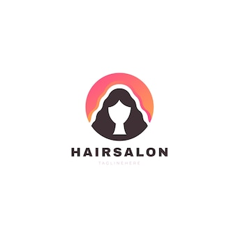 Градиентный логотип парикмахерской Premium векторы