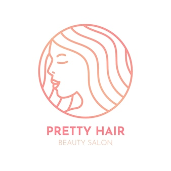 Gradient hair salon logo