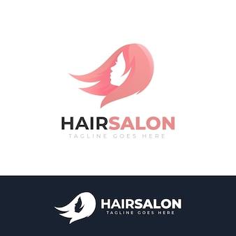 Gradient hair salon logo