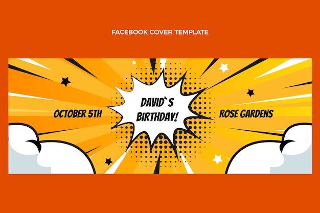 그라데이션 하프톤 생일 소셜 미디어 표지 템플릿