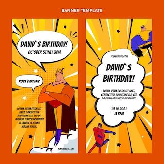 Set di banner verticali di compleanno di semitono sfumati