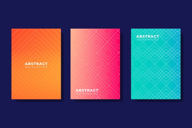 Gradient halftone cover collection