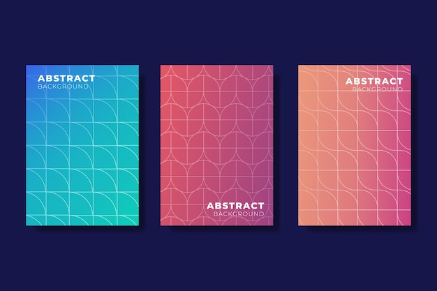 Gradient halftone cover set