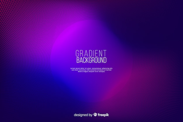 Gradient halftone effect colorful background