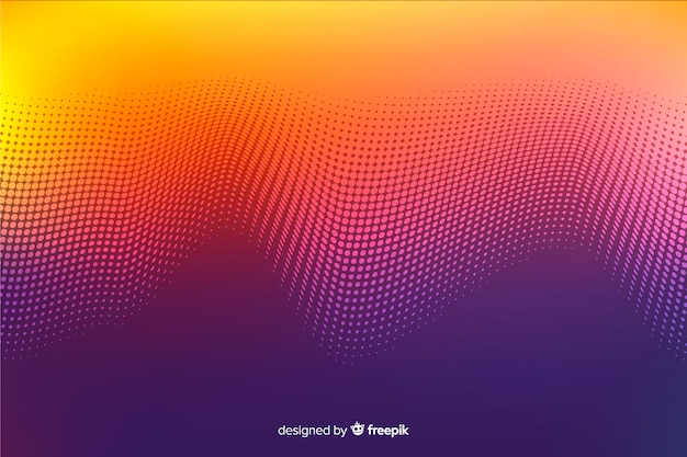 Gradient halftone effect decorative background