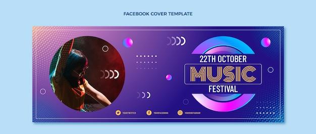グラデーションハーフトーン音楽祭facebookカバー
