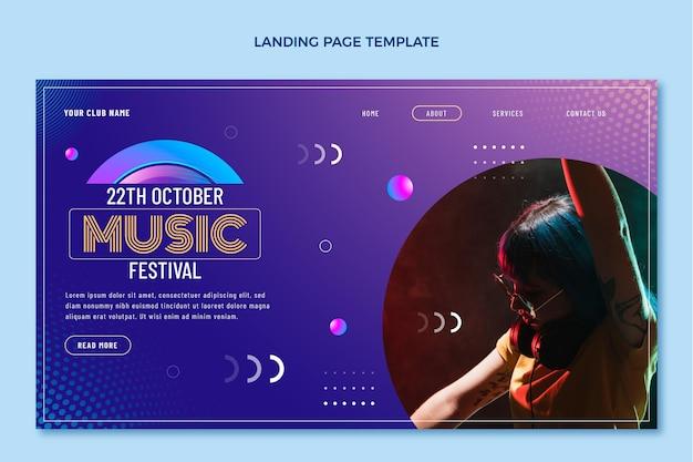 그라디언트 하프톤 음악 축제 방문 페이지