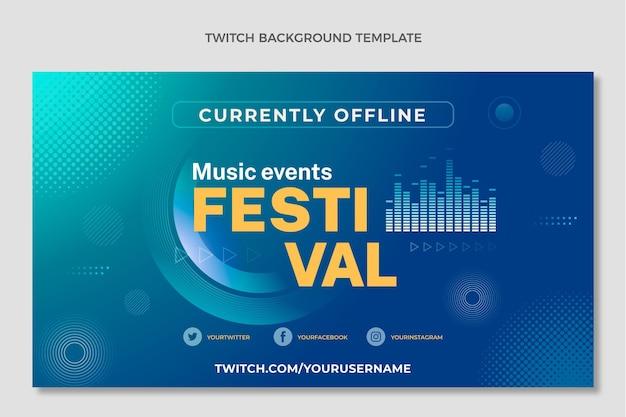 Gradient halftone music festival twitch background