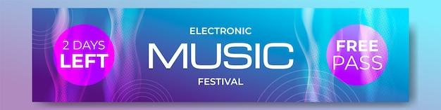 Музыкальный фестиваль градиентных полутонов twitch баннер
