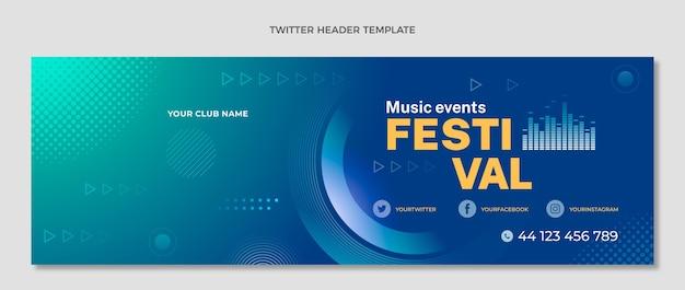 グラデーションハーフトーン音楽祭のツイッターヘッダー