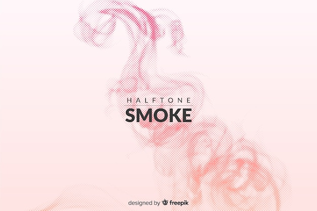 Gradient halftone smoke background