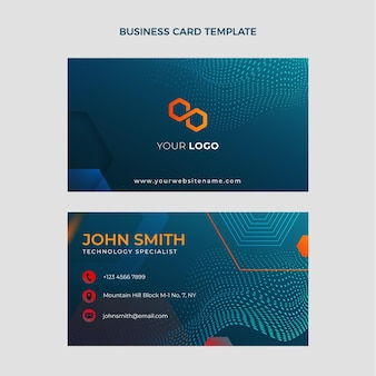 Gradient halftone technology business card
