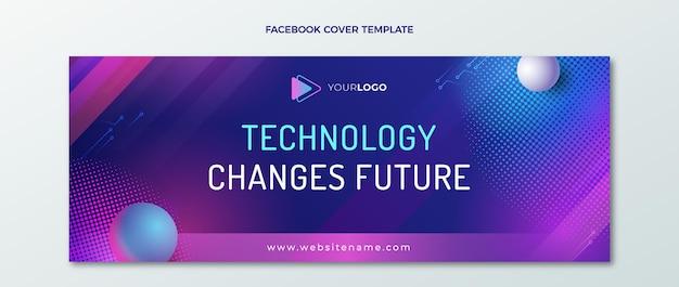 Copertina facebook con tecnologia gradiente mezzitoni