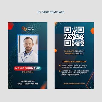 Gradient halftone technology id card