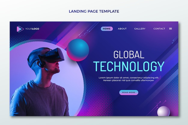 Gradient halftone technology landing page