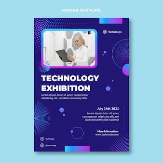 Плакат с градиентной полутоновой технологией