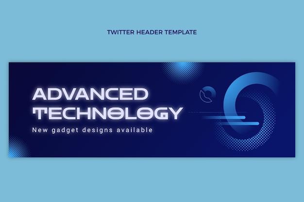 Gradient halftone technology twitter header