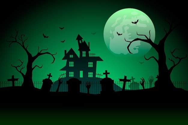 Градиентный фон хэллоуина