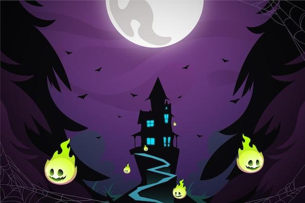 Gradient halloween background