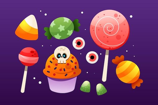 Коллекция градиентных конфет на хэллоуин