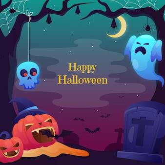 Шаблон градиентной рамки на хэллоуин