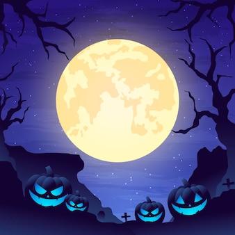 Modello di cornice di halloween sfumato