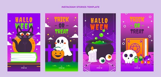Gradient halloween instagram stories collection