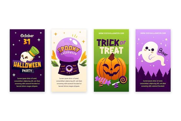 Raccolta di storie di instagram di halloween sfumato