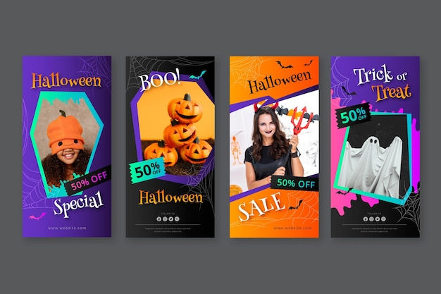 Коллекция историй градиента хэллоуин instagram
