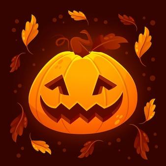 Градиент хэллоуин тыква иллюстрация