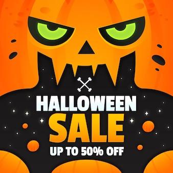 Градиентная иллюстрация продажи хэллоуина