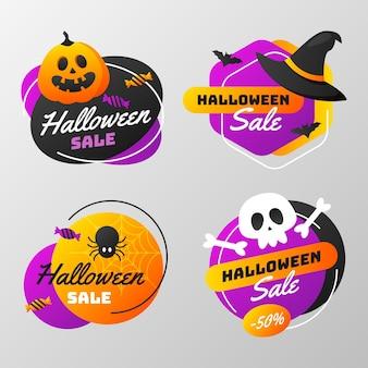 Gradient halloween sale labels collection