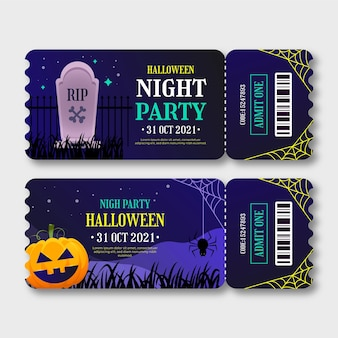 Gradient halloween tickets collection
