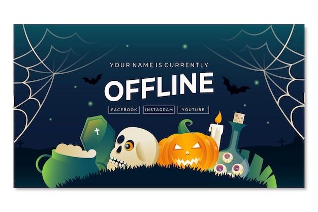 Gradient halloween twitch background