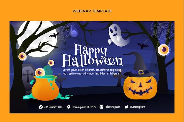 Gradient halloween webinar template