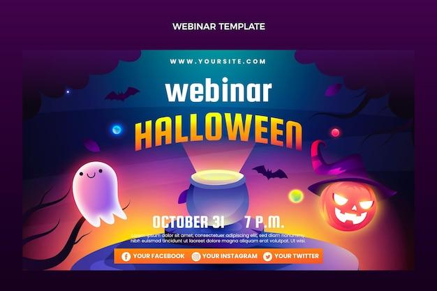 Шаблон вебинара градиент хэллоуин