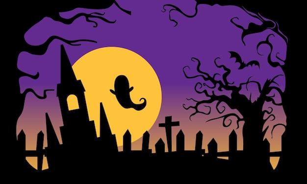 Градиент handdrawn плоские хэллоуин обои
