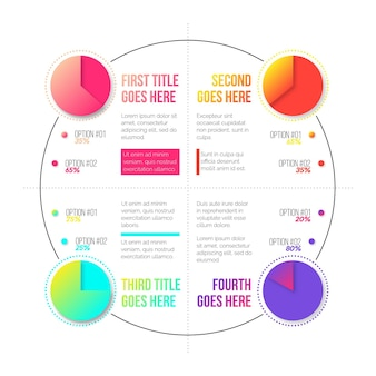 Градиент харви шаровые диаграммы - инфографика