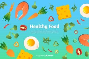 グラデーション健康食品の背景