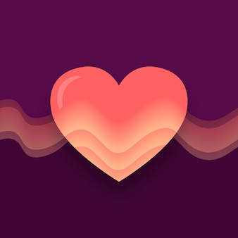 Gradient heart illustration